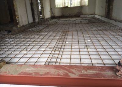 wapeningsnetten voor de betonvloer